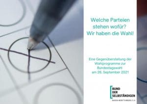 Gegenüberstellung der Wahlprogramme zur Bundestagswahl 2021